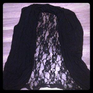 Jackets & Blazers - Black Lace Vest